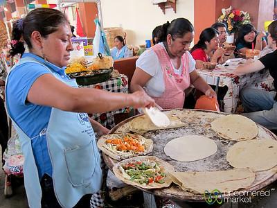 Empanada on the Comal at Tlacolula Market - Mexico