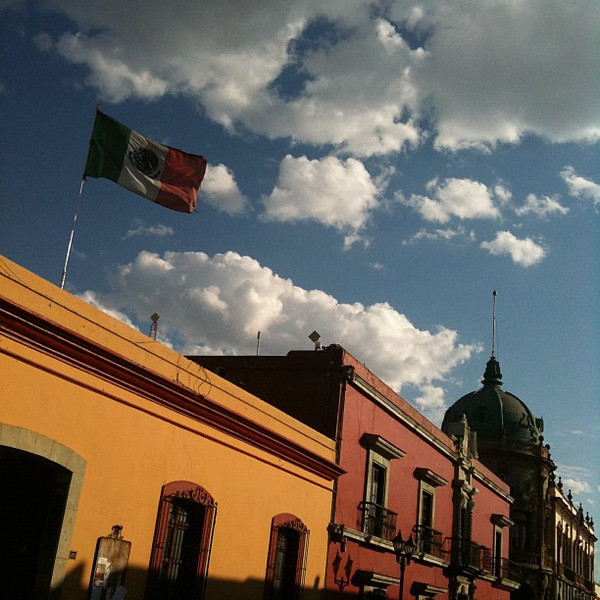 Oaxaca streets, late afternoon light #Mexico