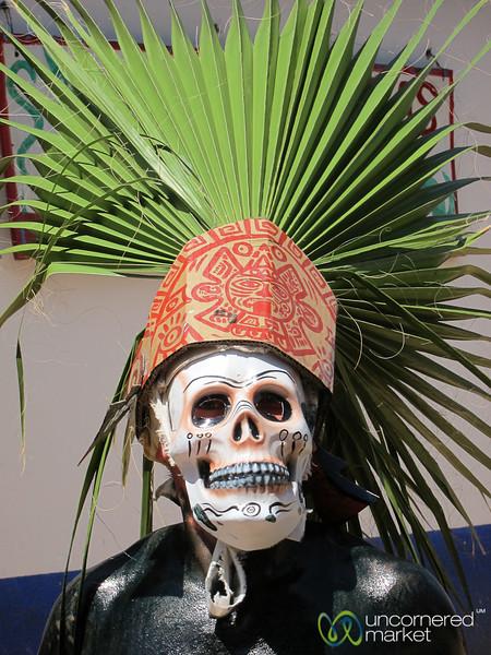 Carnaval Skull Mask Costume - San Martin Tilcajete, Mexico