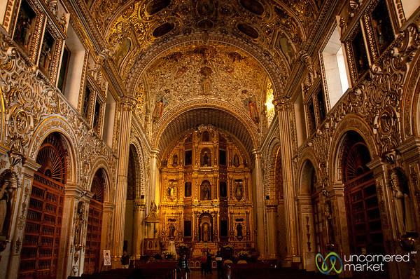 Inside Santo Domingo Church - Oaxaca, Mexico
