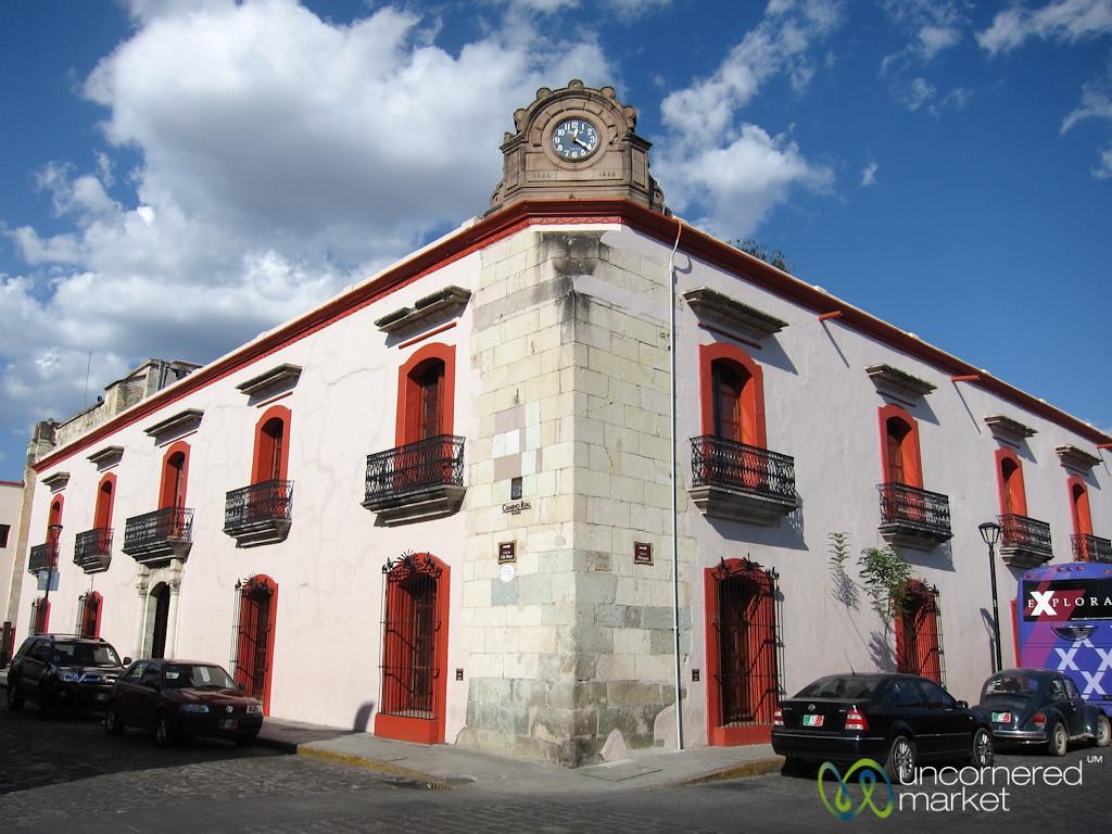 Oaxaca Corner and Clock - Mexico