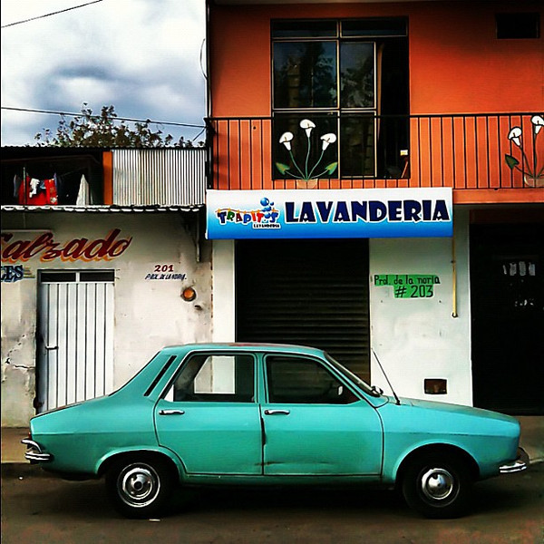 Oaxaca street, retro wheels
