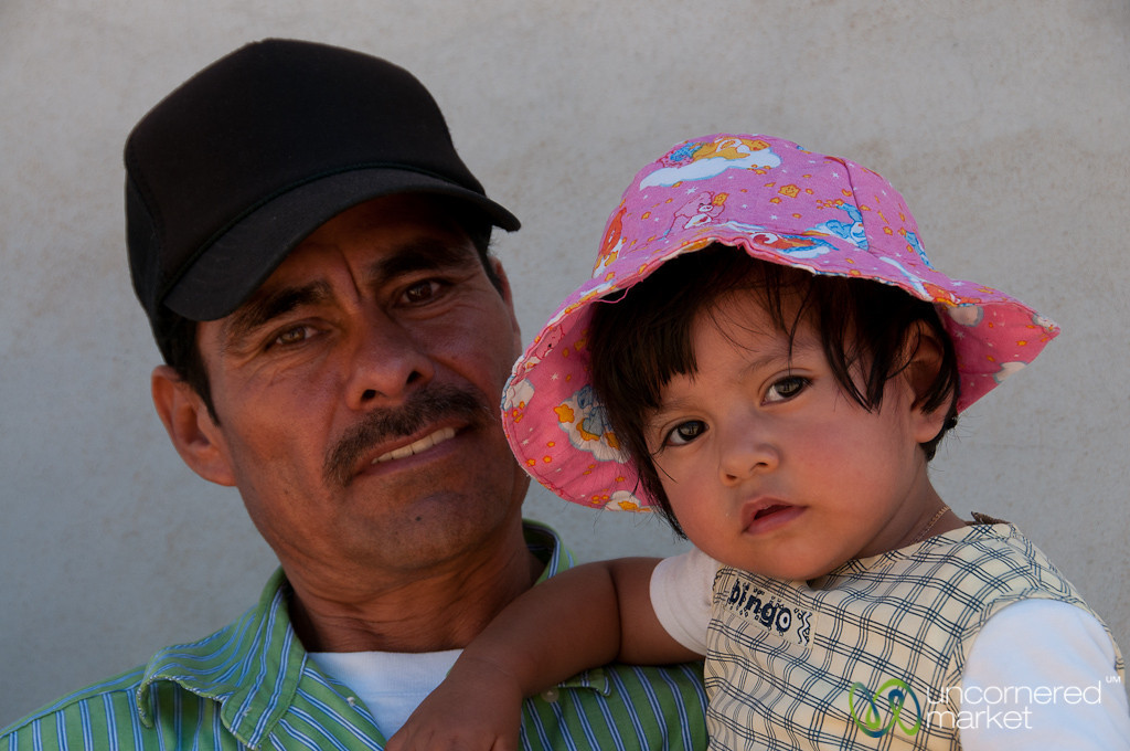 Mexican Father and Daughter - San Martin Tilcajete, Mexico