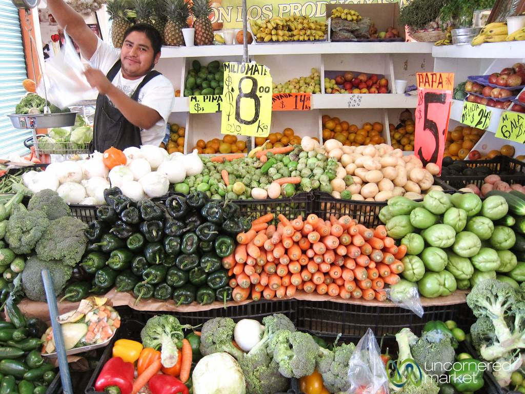 Piles of Vegetables at Market - Oaxaca, Mexico