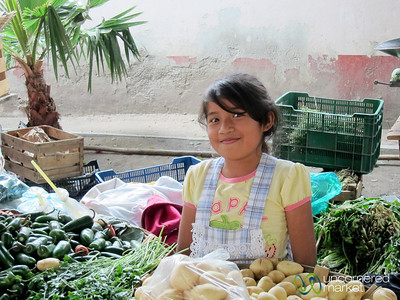 Young Mexican Vegetable Vendor - Tlacolula, Mexico