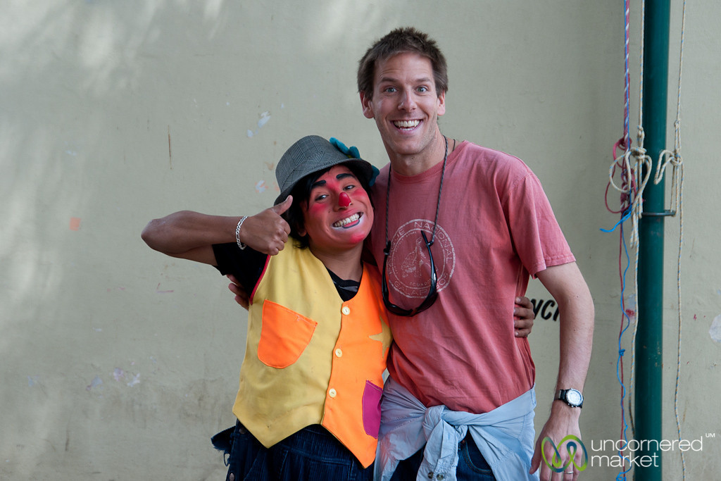 Dan with a Mexican Clown - Tlacolula