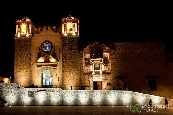 Las Danzas Plaza at Night - Oaxaca, Mexico