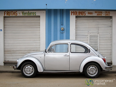 Volkswagon Bug in Front of Market - Oaxaca, Mexico