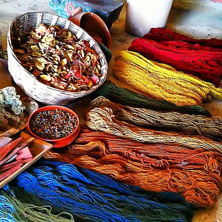 Teotitlan, time to make the carpets, Zapotec style #Mexico