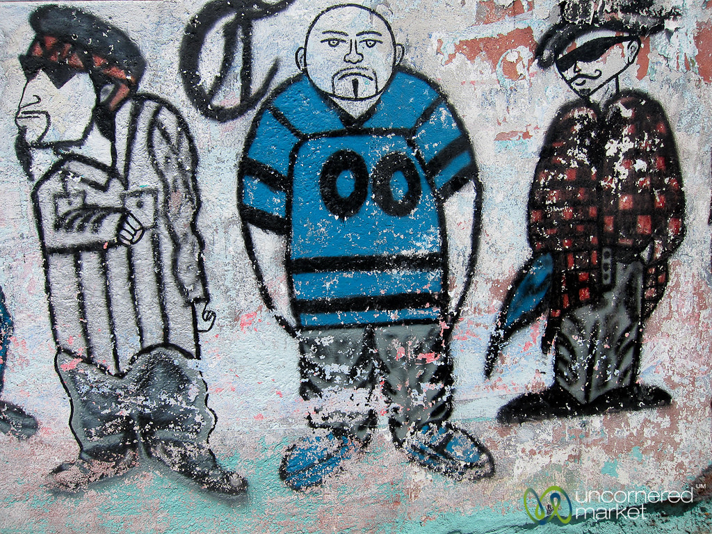 Thug-looking Street Art - Oaxaca, Mexico