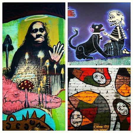 Awesome street art, Oaxaca style. Mexico