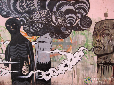 Anti-Smoking Graffiti - Oaxaca, Mexico