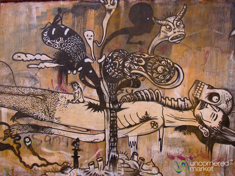 Grim Street Art - Oaxaca, Mexico