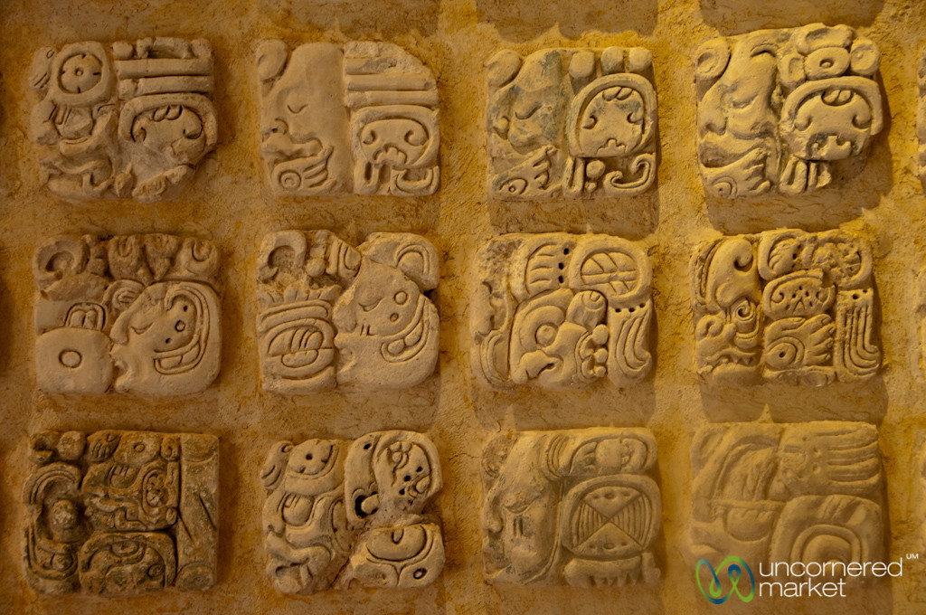 Mayan Hieroglyphics at Palenque - Chiapas, Mexico