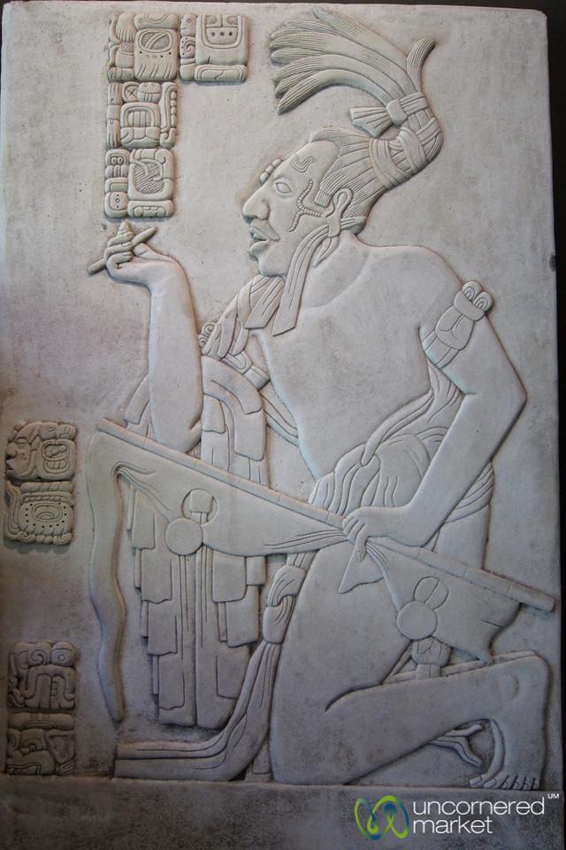 Mayan Art and Hieroglyphics - Palenque, Mexico