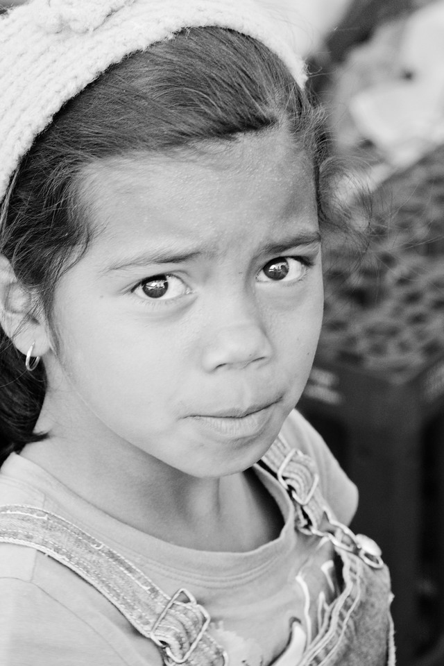 Touching portrait of a young girl from Puebla.