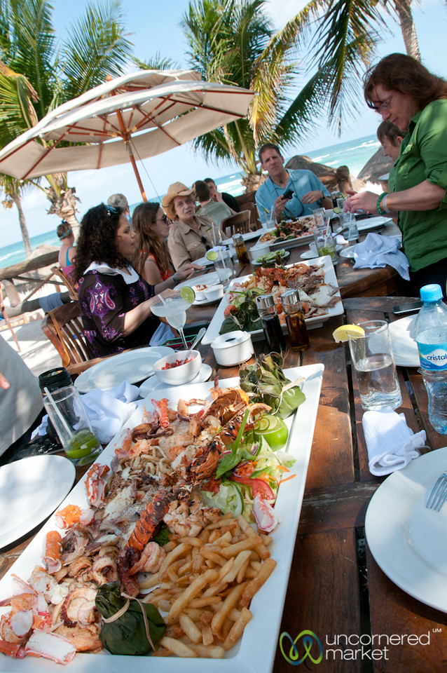 Seafood Lunch at Tulum Beach - Riviera Maya, Mexico