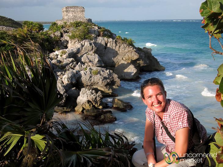 Audrey at Tulum Ruins - Riviera Maya, Mexico