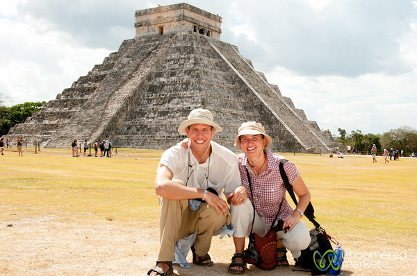 Dan and Audrey at Chichen Itza - Mexico