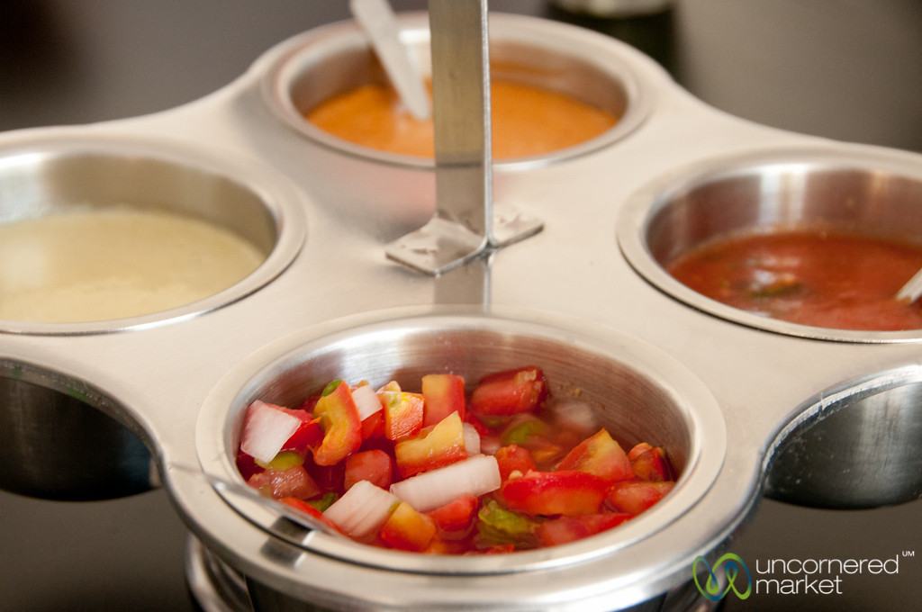 Hot Sauces for Shrimp Tacos - Cozumel Food Tour, Mexico