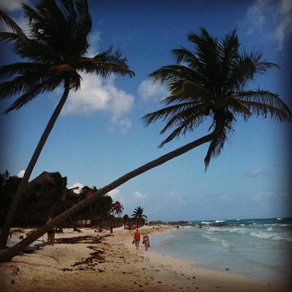 Afternoon walk at Tulum beach. So relaxing. #WeVisitMexico