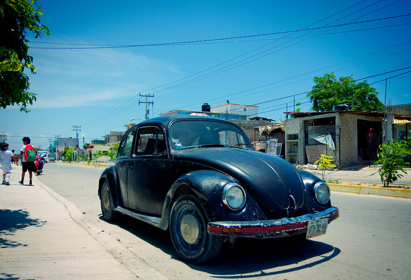 Old VW Bug on Outskirts of Town