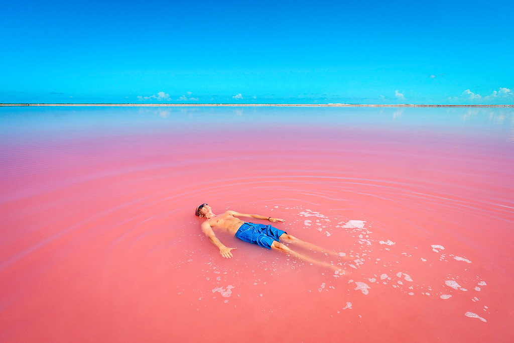 Swimming In The Pink Lake