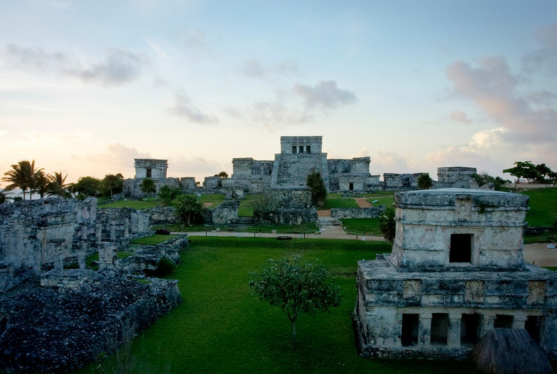 Site of Tulum Ruins at Sunrise