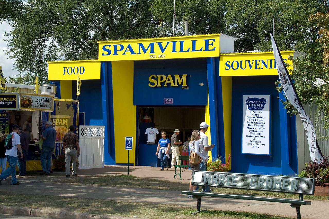 Spamville merchandise mart at the Minnesota State Fair 2009