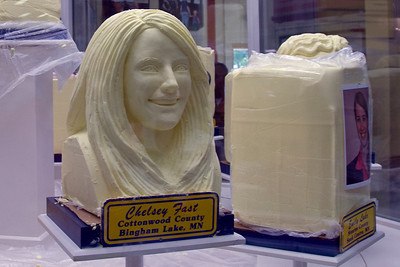 Bas relief of a woman at the 2009 Minnesota State Fair
