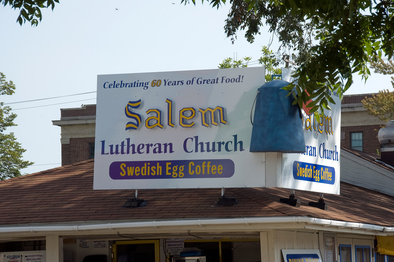 Sign above a cafe during Minnesota State Fair 2009