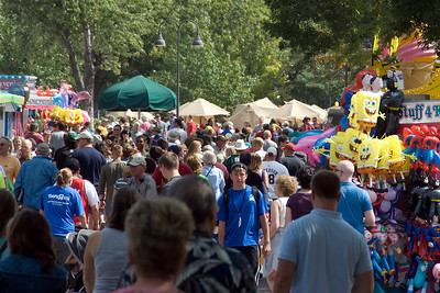 Shot of the crowd at the 2009 Minnesota State Fair