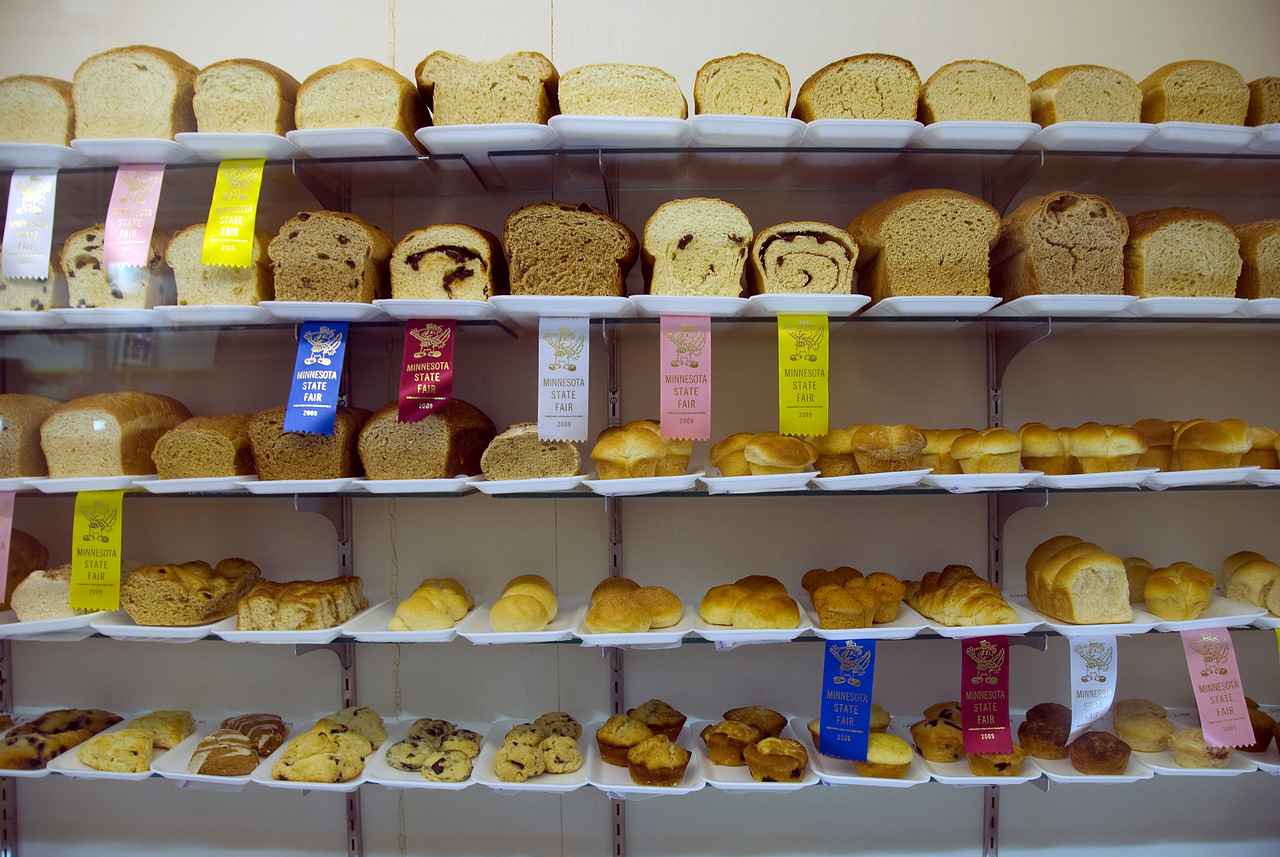 Pastries on a shelf at the Minnesota State Fair 2009