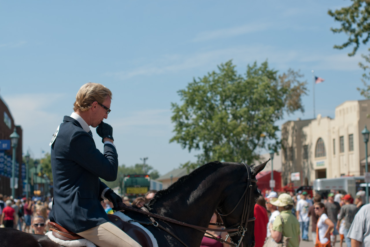 Horse back riders at parade of 2010 Minnesota State Fair