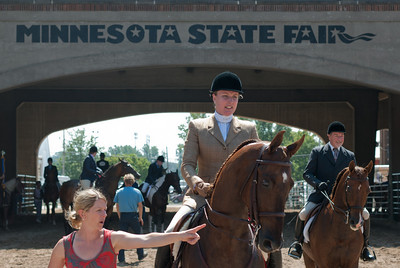 Horse back riding at the 2010 Minnesota State Fair