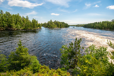 Panorama of lake in Voyageurs National Park, Minnesota