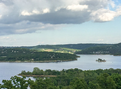 The lake in Branson, Missouri, on a Midwest road trip.