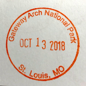 Gateway Arch National Park Stamp