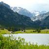 Emerald Lake on the way to Mystic Lake Hike in Montana