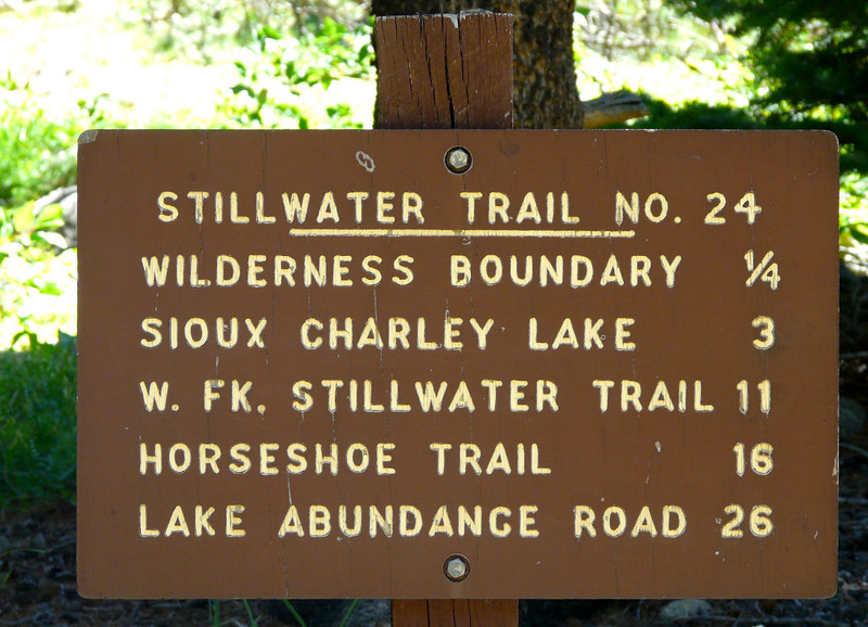 Hiking to Sioux Charley Lake on the Stillwater Trail