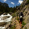 """Hikers on the Mystic Lake Trail in Montana. Read about our experience hiking Mystic Lake Trail <a href=""""http://myitchytravelfeet.com/2011/08/25/mystic-lake-trail-montana-boomer-adventure/"""">http://myitchytravelfeet.com/2011/08/25/mystic-lake-trail-montana-boomer-adventure/</a>"""
