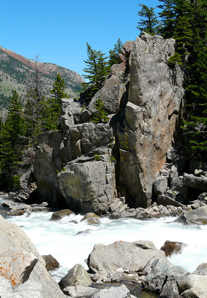 Stone formations guard the banks of Montana's Stillwater River.