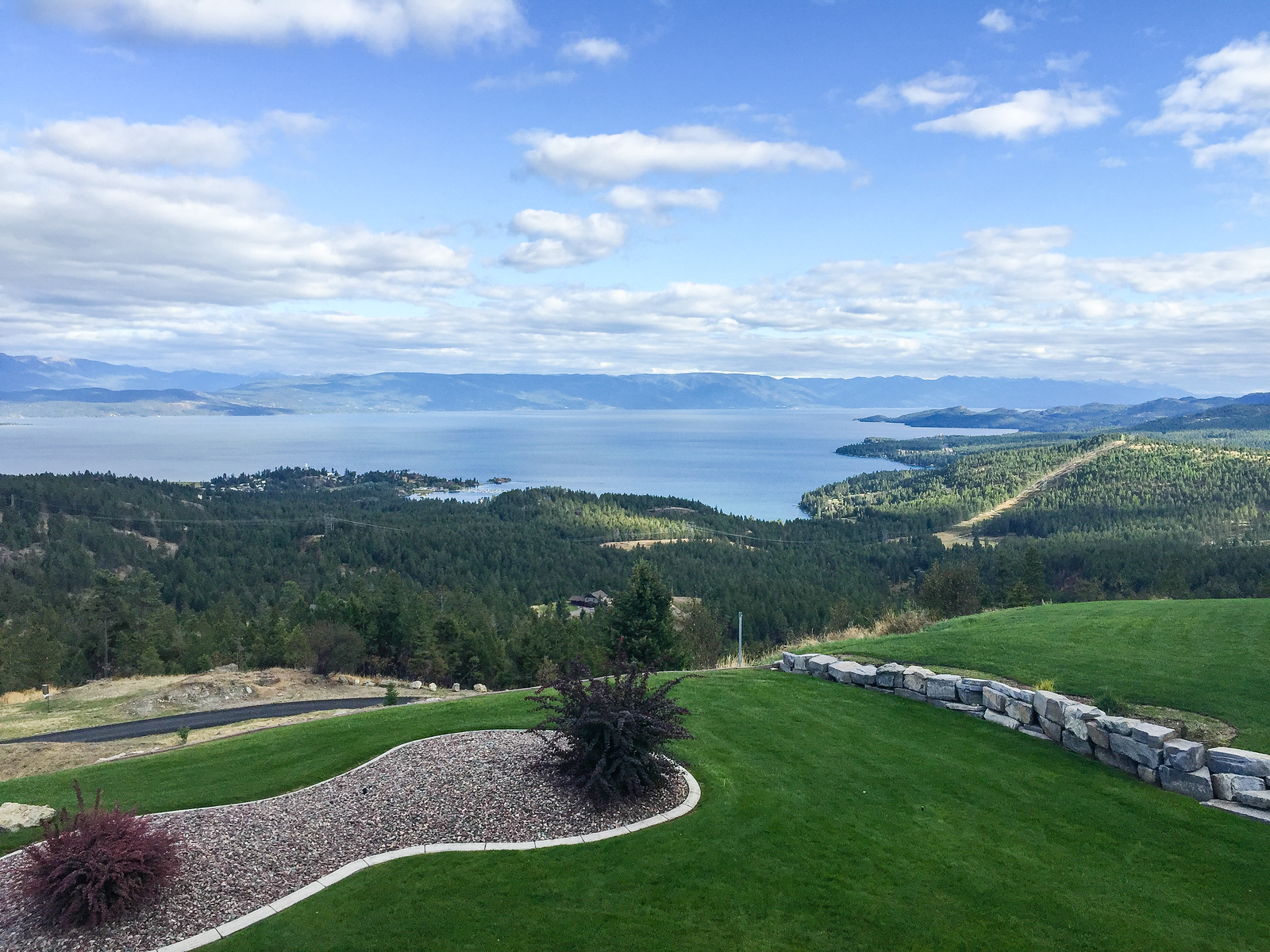 Coyote Bluff Estate has a world-class view of Flathead Lake.