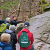 Geology lesson on Avalanche Lake Trail