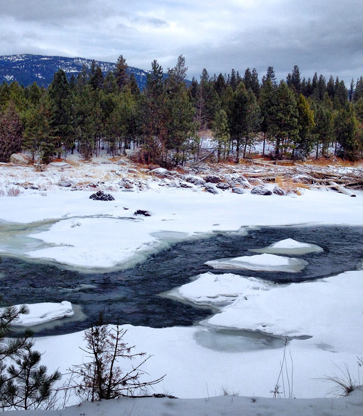 The Blackfoot River on a winter day