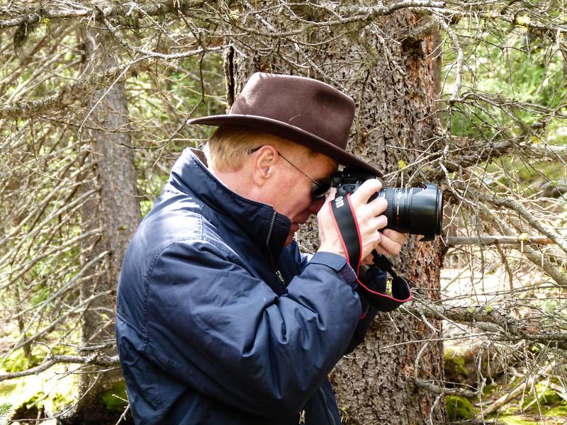 Alan Hull photographing
