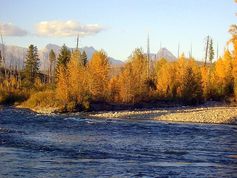 Flathead River in Polebridge, Montana