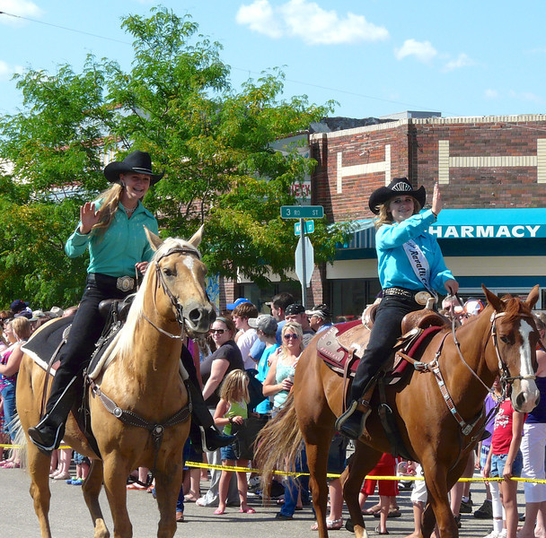 Rodeo Queens at the Creamery Picnic Parade