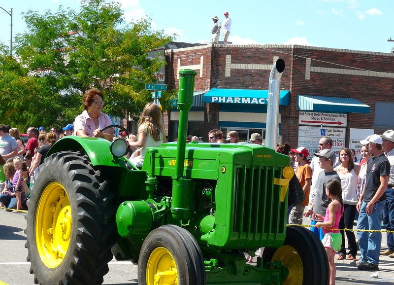 Antique Tractor at the Creamery Picnic Parade
