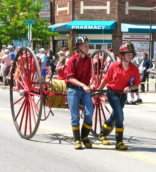 Antique fire equipment at the Western Heritage Days parade